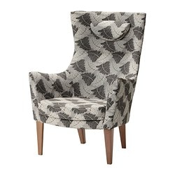 "STOCKHOLM high-back armchair, Mosta gray Width: 31 1/8 "" Depth: 32 5/8 "" Height under furniture: 7 7/8 "" Width: 79 cm Depth: 83 cm Height under furniture: 20 cm"