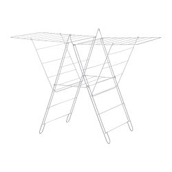 FROST drying rack, in/outdoor, white Length: 134 cm Width: 59 cm Height: 93 cm