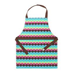 "TULLIA children's apron, multicolor Length: 23 "" Length: 59 cm"