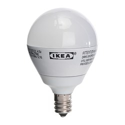 LEDARE LED bulb E12, globe opal white Luminous flux: 200 lm Power: 4.5 W Luminous flux: 200 lm Power: 4.5 W