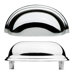 FÅGLEBODA handle, chrome-plated Length: 85 mm Width: 37 mm Depth: 25 mm