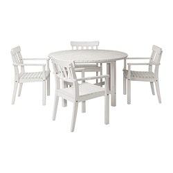 ÄNGSÖ table and 4 armchairs