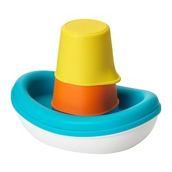 SMÅKRYP 3-piece bath toy set, boat