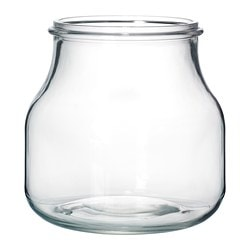 "ENSIDIG vase, clear glass Diameter: 6 "" Height: 6 ¼ "" Diameter: 15 cm Height: 16 cm"