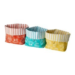 GLÄNTA bread basket, assorted colours Diameter: 17 cm Height: 24 cm