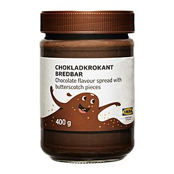 CHOKLADKROKANT BREDBAR chocolate butterscotch spread Net weight: 14.1 oz Net weight: 400 g