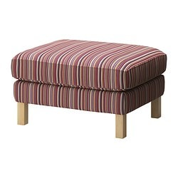 KARLSTAD footstool cover, Kulladal multicolour