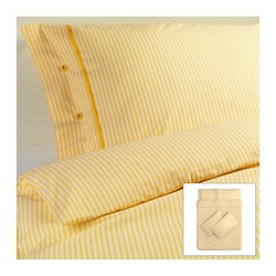 NYPONROS quilt cover and 4 pillowcases, yellow Quilt cover length: 200 cm Quilt cover width: 200 cm Pillowcase length: 50 cm