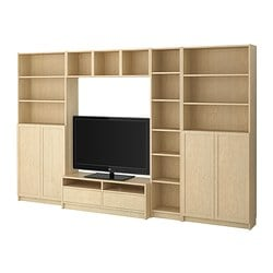 BILLY/BENNO TV storage combination, birch veneer