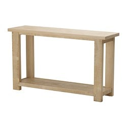 "REKARNE console table, pine Length: 51 1/8 "" Width: 15 "" Height: 29 1/2 "" Length: 130 cm Width: 38 cm Height: 75 cm"