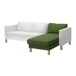 KARLSTAD chaise longue, add-on unit, Sivik green Width: 80 cm Depth: 160 cm Height: 80 cm