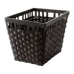 KNARRA basket, black-brown