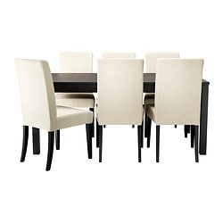 "BJURSTA/ HENRIKSDAL table and 6 chairs Length: 68 7/8 "" Length: 175 cm"