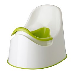 LOCKIG children's potty, green white, green Length: 36 cm Width: 27 cm Height: 28 cm