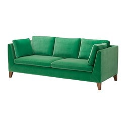"STOCKHOLM sofa, Sandbacka green Width: 83 1/8 "" Depth: 34 5/8 "" Height under furniture: 5 1/2 "" Width: 211 cm Depth: 88 cm Height under furniture: 14 cm"