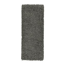 GÅSER rug, high pile, dark gray