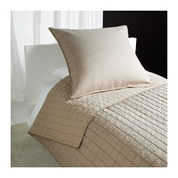 STRANDVETE bedspread and cushion cover, beige Length: 280 cm Cushion cover length: 65 cm Cushion cover width: 65 cm