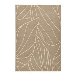 LÄBORG rug, low pile, beige Length: 195 cm Width: 133 cm Thickness: 10 mm