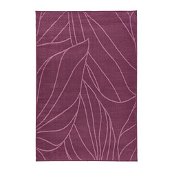 LÄBORG rug, low pile, lilac Length: 195 cm Width: 133 cm Thickness: 10 mm