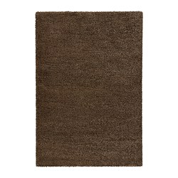 ÅDUM rug, high pile, light brown
