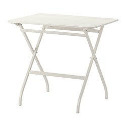 MÄLARÖ table, outdoor, foldable white white