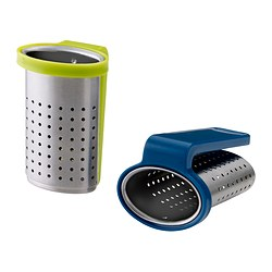 SAKKUNNIG tea infuser, light green, assorted colours blue Length: 6.5 cm Package quantity: 2 pieces