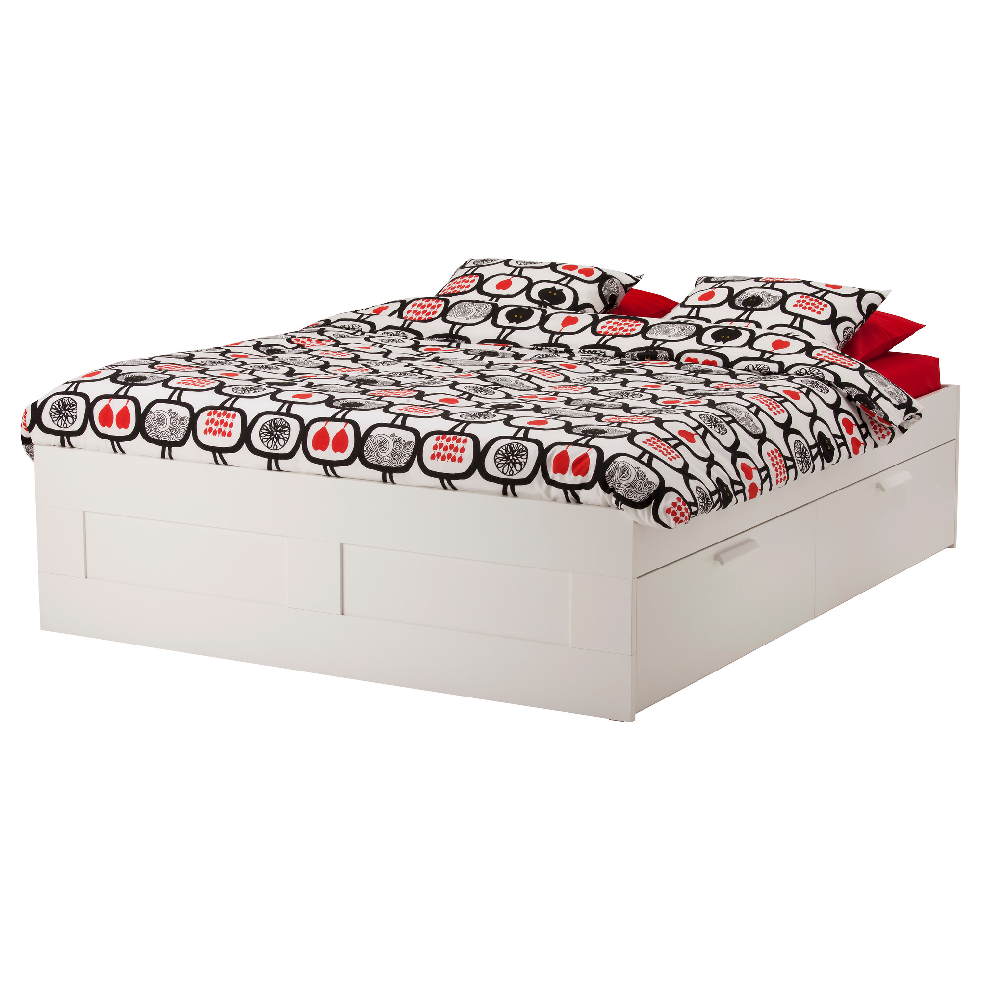 brimnes bed frame with storage white lury height of drawer inside