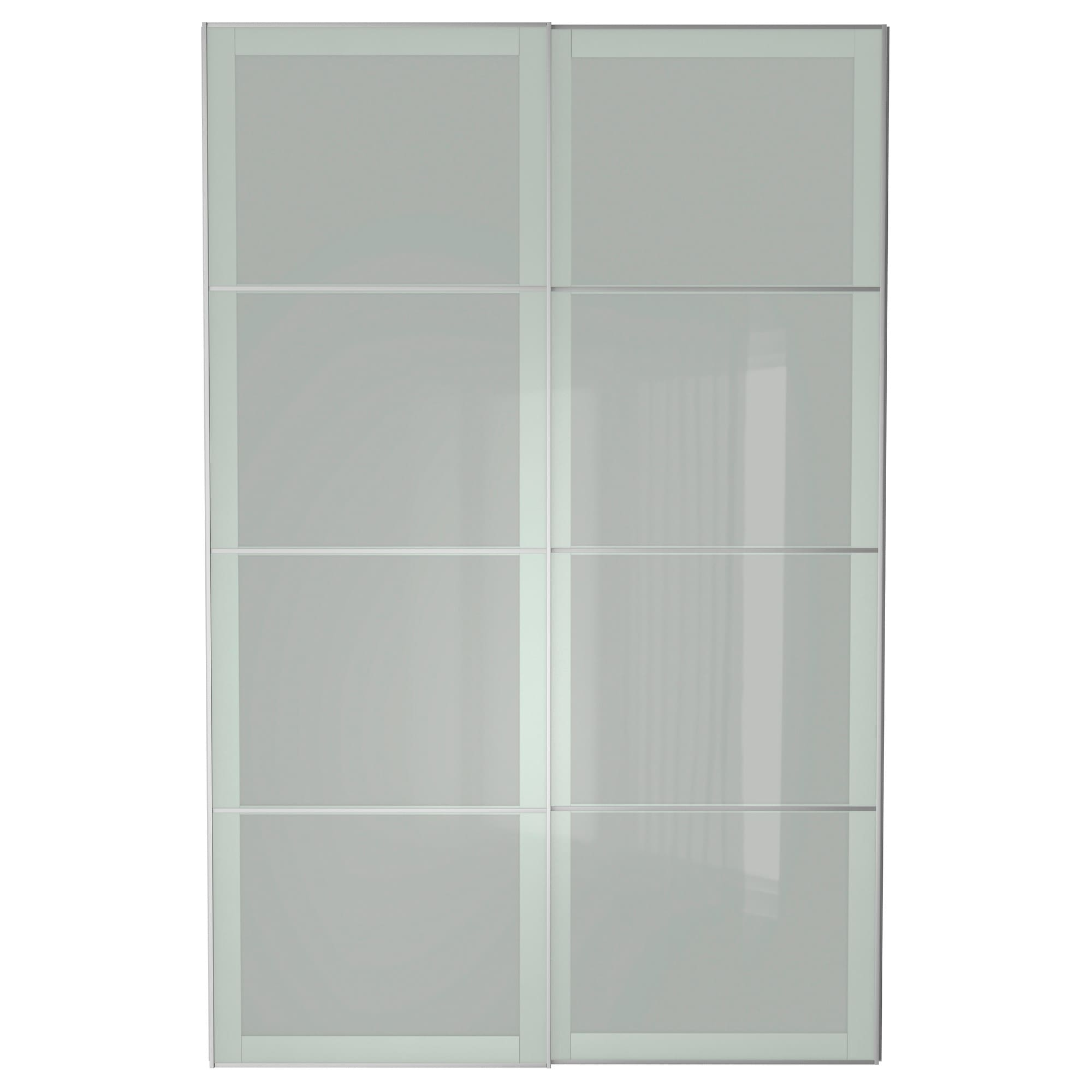 Interior sliding doors ikea - Sekken Pair Of Sliding Doors 78 3 4x92 7 8 Soft Closing Damper Ikea