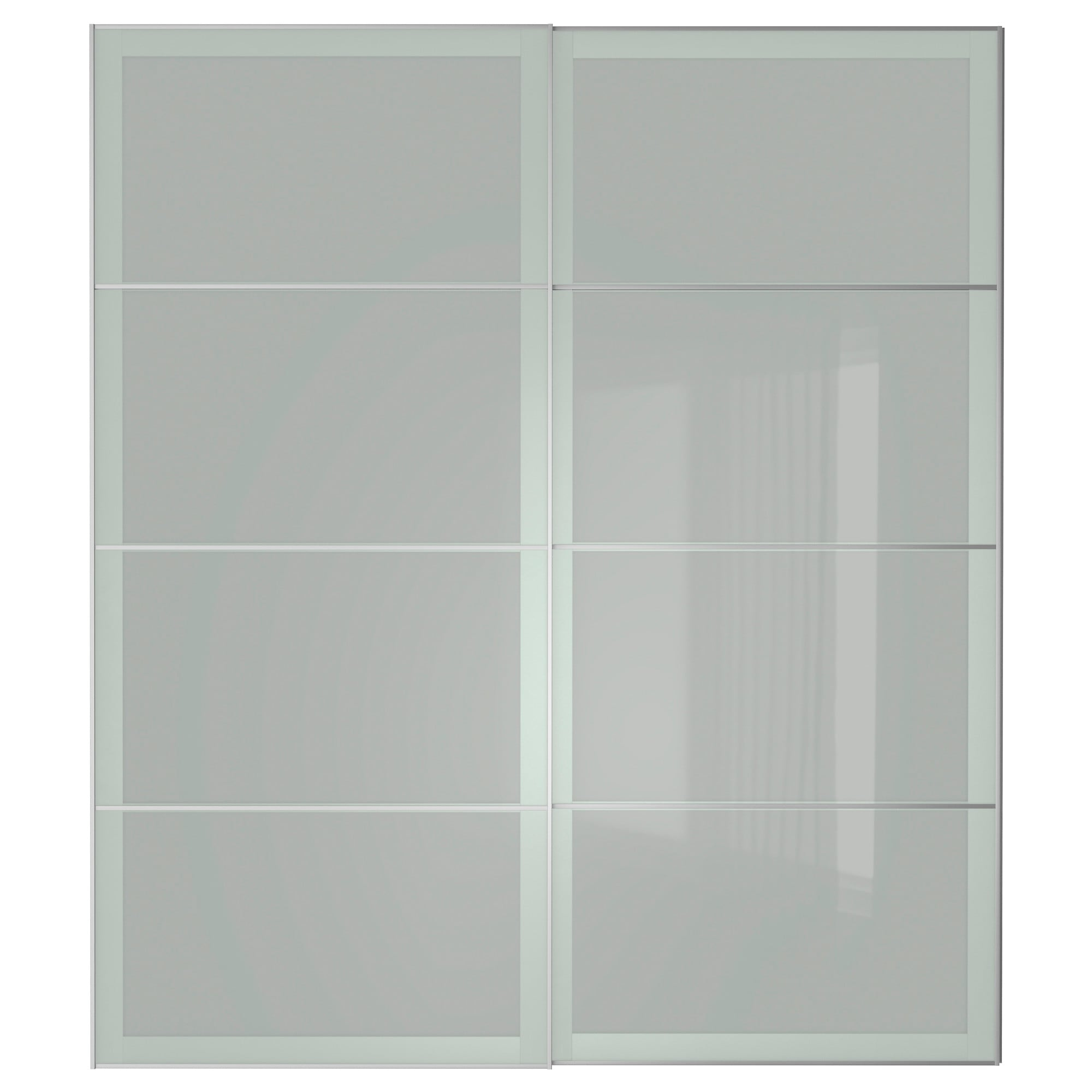3 panel sliding closet doors - Sekken Pair Of Sliding Doors Frosted Glass Width 78 3 4 Built