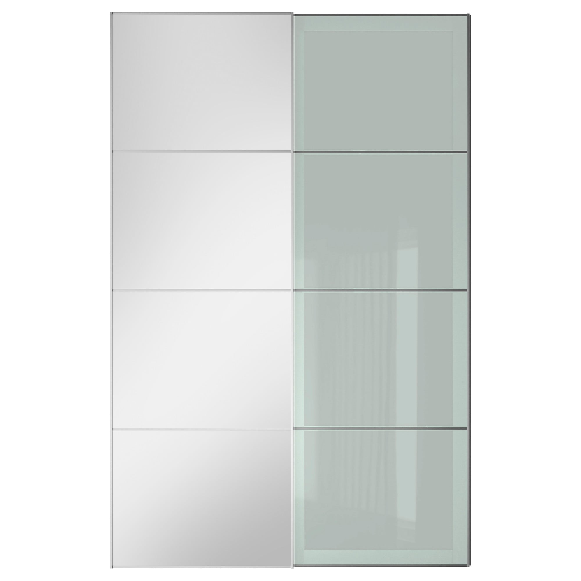 3 panel sliding closet doors - Auli Sekken Pair Of Sliding Doors Mirror Glass Frosted Glass Width 78