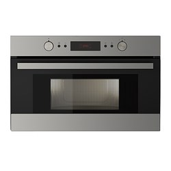 SNABB microwave oven, stainless steel Width: 59.5 cm Depth: 46.8 cm Height: 39.7 cm