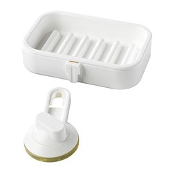 STUGVIK soap dish with suction cup Length: 14 cm Width: 9 cm Max. load: 1 kg
