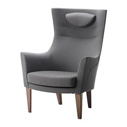 STOCKHOLM high-back armchair, Röstånga grey Width: 79 cm Depth: 83 cm Free height under furniture: 20 cm