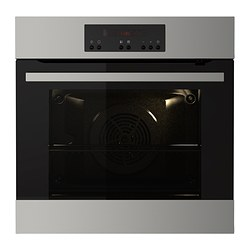 KULINARISK forced air oven w pyrolytic funct, stainless steel Width: 59.4 cm Depth: 56.7 cm Height: 58.9 cm