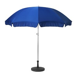 RAMSÖ/LÖKÖ parasol with base Diameter: 250 cm Min. height: 151 cm Max. height: 252 cm