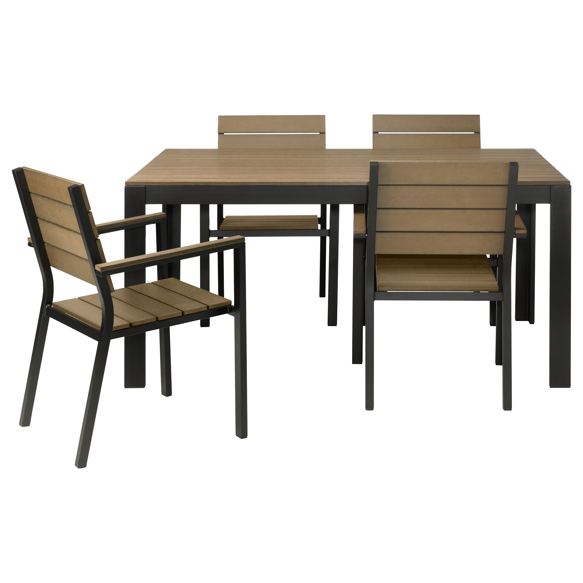 Perfect FALSTER Table And 4 Armchairs, Outdoor   Black/brown   IKEA