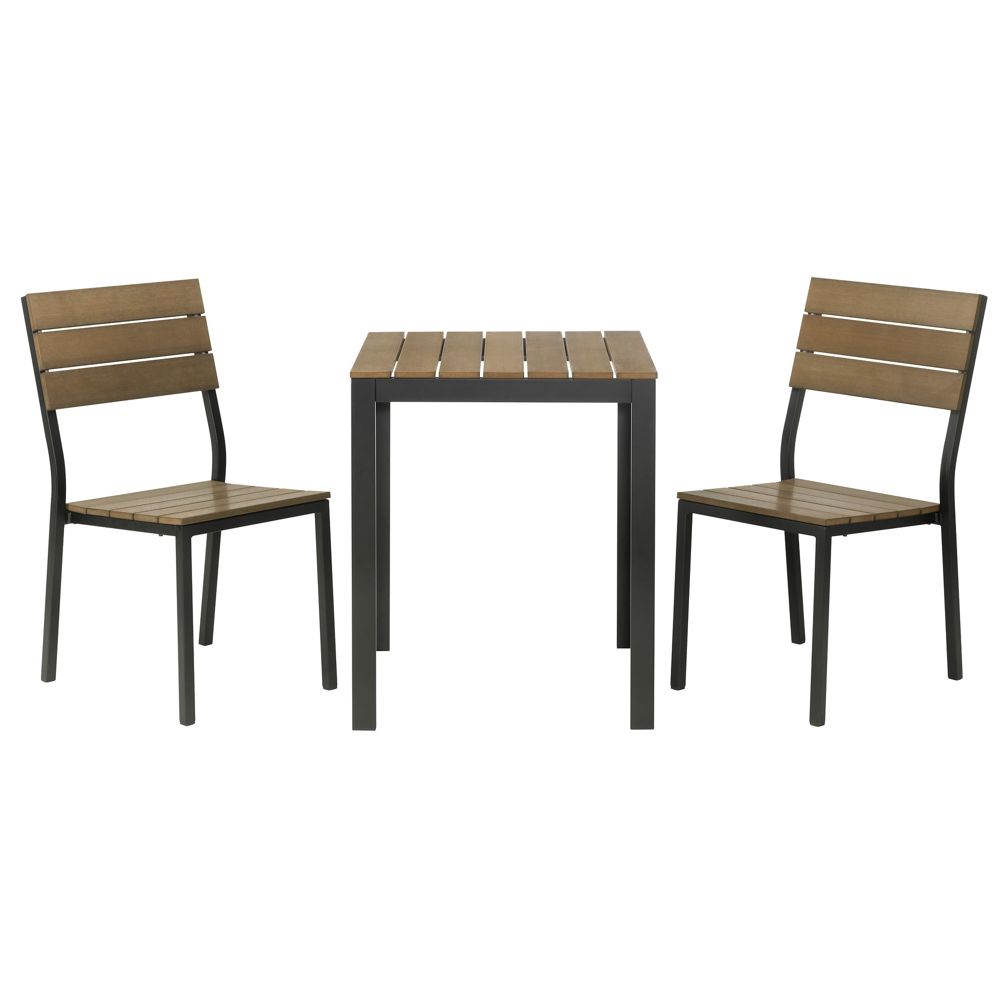 Outdoor table and chairs - Falster Table 2 Chairs Outdoor Black
