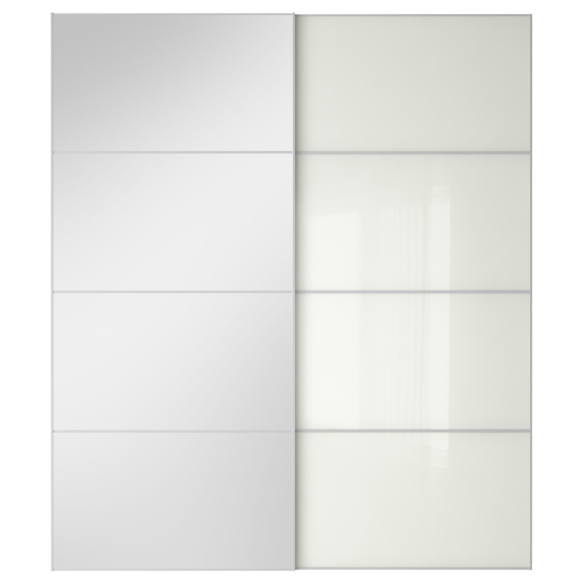 AULI / FÄRVIK pair of sliding doors mirror glass white glass Width 78  sc 1 st  Ikea & Sliding Closet Doors - PAX system - IKEA pezcame.com