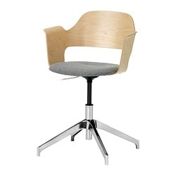 FJÄLLBERGET conference chair, Ullevi grey grey medium grey, birch veneer Tested for: 110 kg Width: 67 cm Depth: 67 cm