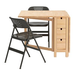 NORDEN/FRODE table and 2 chairs