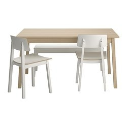 TRANETORP/ SIGURD table, bench and 2 chairs