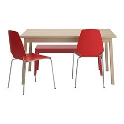 TRANETORP/ VILMAR table, bench and 2 folding chairs