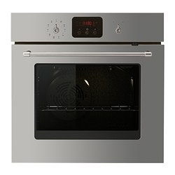HYLLAD forced air oven w pyrolytic funct, stainless steel Width: 59.4 cm Depth: 56.0 cm Height: 58.9 cm