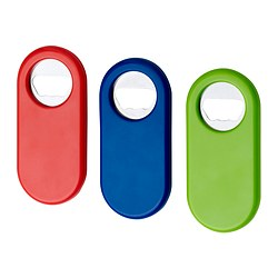 STÄM bottle opener, white/blue, red Length: 11 cm