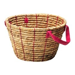 RIFFLA basket, water hyacinth Diameter: 32 cm Height: 20 cm