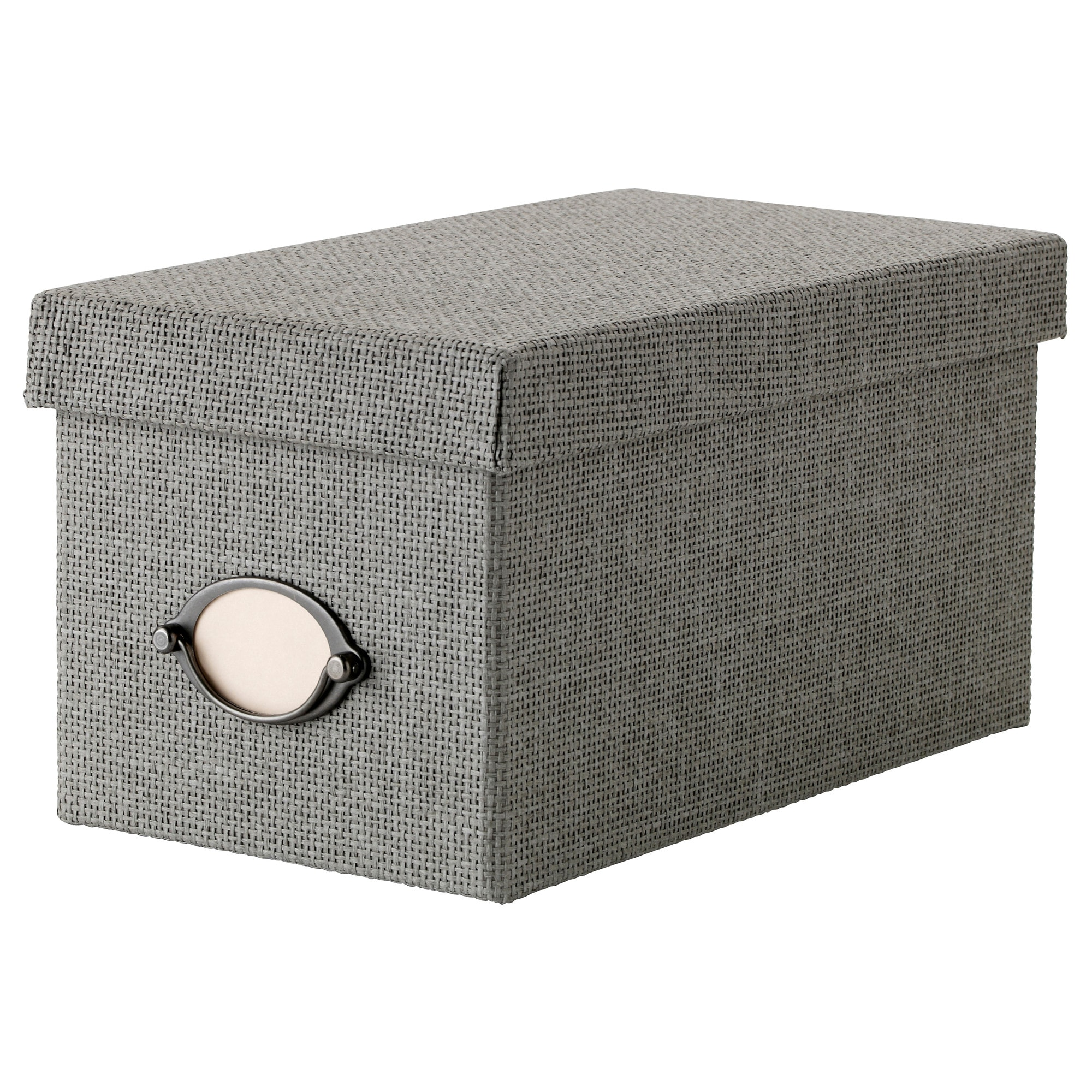 kvarnvik box with lid gray length 12 width 13 - Decorative File Boxes