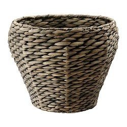 "DRUVFLÄDER plant pot, gray, water hyacinth Outside diameter: 13 ½ "" Max. diameter inner pot: 9 ½ "" Height: 11 ½ "" Outside diameter: 34 cm Max. diameter inner pot: 24 cm Height: 29 cm"