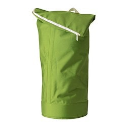 "HUMLARE bag, green, indoor/outdoor green Height: 39 ¼ "" Base diameter: 13 3/4 "" Max. load: 77 lb 3 oz Height: 100 cm Base diameter: 35 cm Max. load: 35 kg"