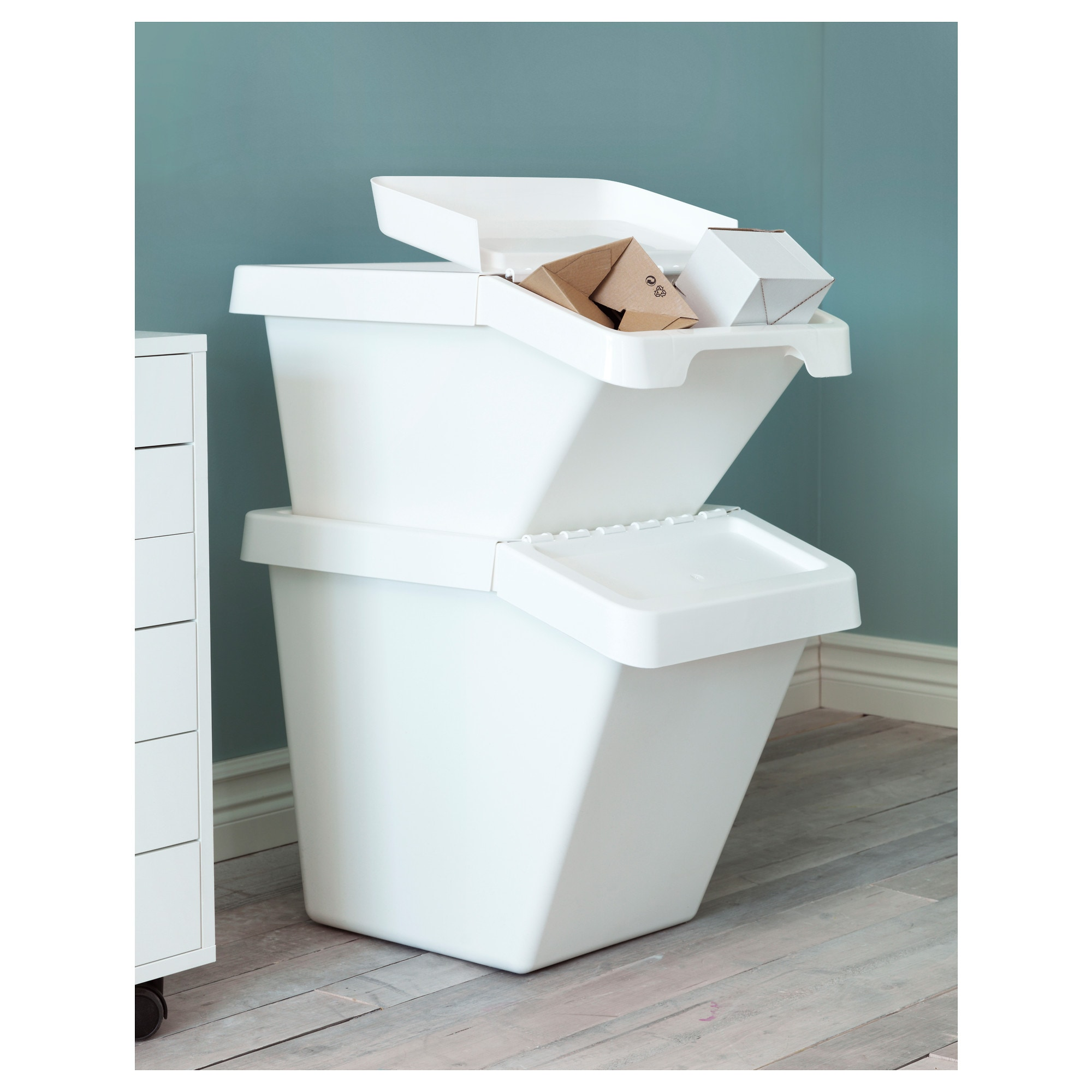 SORTERA Recycling bin with lid - IKEA