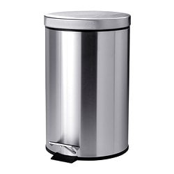 STRAPATS pedal bin, stainless steel Height: 41 cm Diameter: 25 cm Volume: 11.5 l